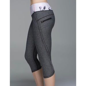 lululemon athletica Pants - Lululemon Run: Top Speed Crop Leggings